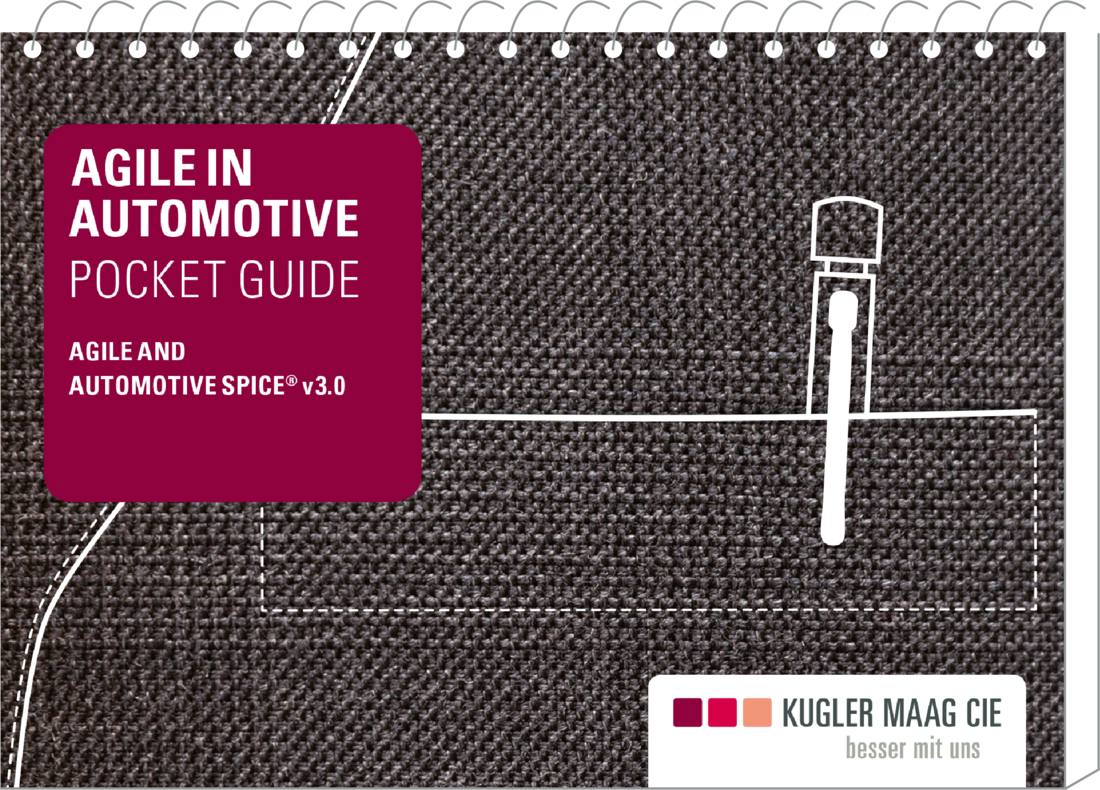 Agile Automotive-Literatur: Cover des Pocketguides Agile & Automotive SPICE